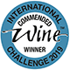 International commended wine winner chalenge 2019
