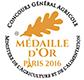Médaille or agricole 2016